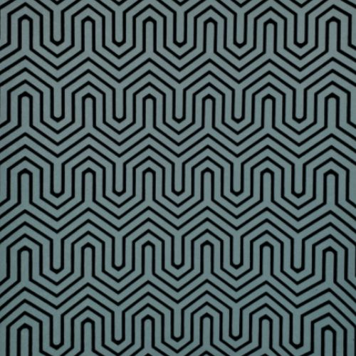 GM7502 York Wallcoverings Geometric Resource Labyrinth Flock Wallpaper Teal