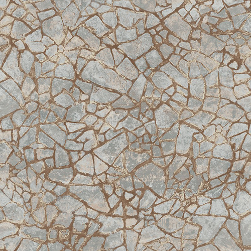 MW30206 Seabrook Wallcoveirngs Metalworks Starkweather Stone Wallpaper Grey