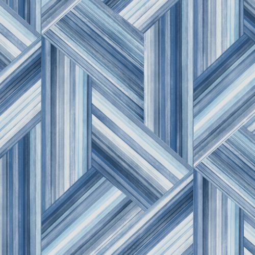 LW50102 Seabrook Wallcoverings Living With Art Woven Geometric Wallpaper Blue