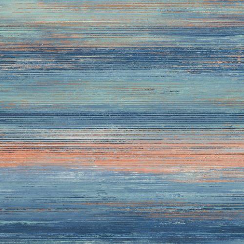 LW50406 Seabrook Wallcoverings Living With Art Rustic Horizon Wallpaper Orange