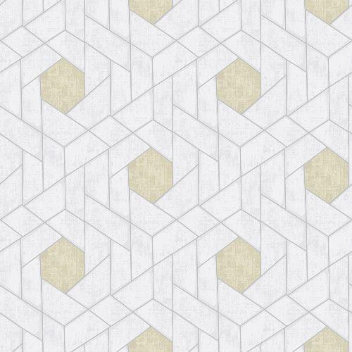 2964-25901 Brewster Wallcoverings A Street Prints Scott Living Granada Geometric Wallpaper Silver