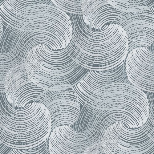 2964-25905 Brewster Wallcoverings A Street Prints Scott Living Karson Swirling Geometric Wallpaper Blue