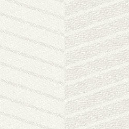 2964-25919 Brewster Wallcoverings A Street Prints Scott Living Aspen Chevron Wallpaper White