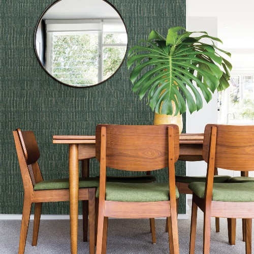 2964-25946 Brewster Wallcoverings A Street Prints Scott Living Brixton Texture Wallpaper Green Room Setting