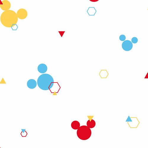 DI0930 York Wallcoverings Disney Kids 4 Disney Mickey Geo Wallpaper Primary