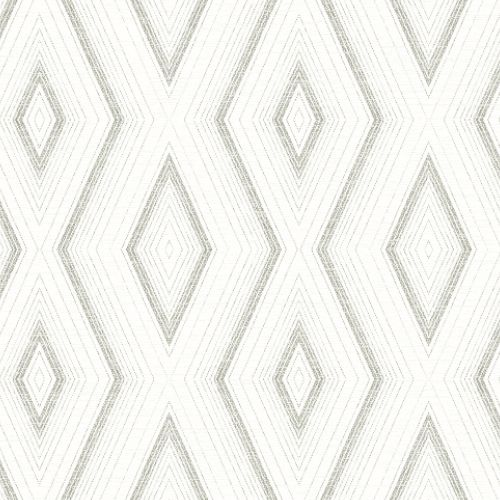3120-13663 Brewster Wallcoverings Chesapeake Sanibel Sun Kissed Collection Santa Cruz Geometric Wallpaper Grey