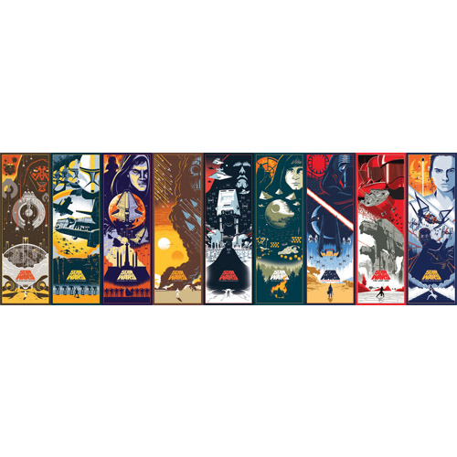 DI1001BD York Wallcoverings Disney Kids 4 Star Wars Celebrating the Saga Border Multi-Color