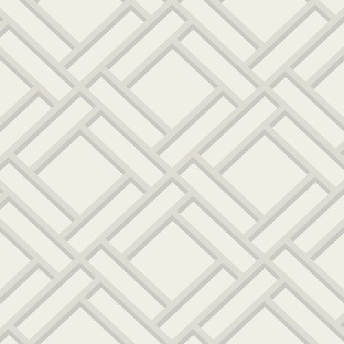 LN11500 Seabrook Wallcoverings Lillian August Luxe Retreat Block Lattice Wallpaper Eggshell