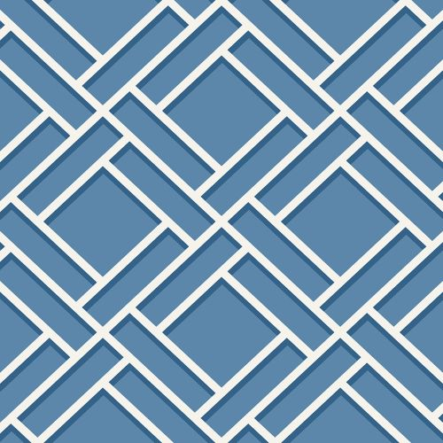 LN11502 Seabrook Wallcoverings Lillian August Luxe Retreat Block Lattice Wallpaper Coastal Blue