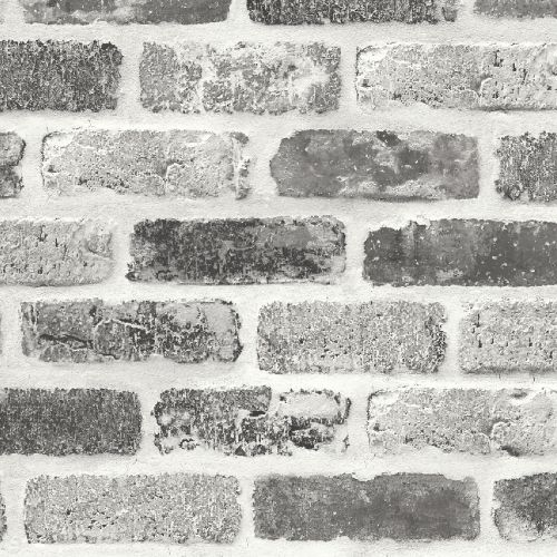 NW30510 Seabrook Wallcoverings NextWall Washed Brick Peel and Stick Wallpaper Grey