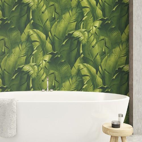Tropical Banana Leaves Peel And Stick Wallpaper Lelands Wallpaper