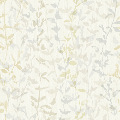 2964-25933 Brewster Wallcovering A Street Prints Scott Living Thea Floral Trail Wallpaper Light Grey