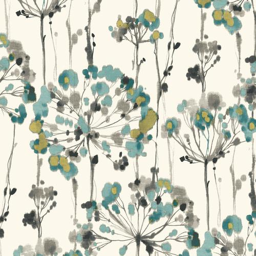 PSW1096RL York Wallcoverings Simply Candice Flourish Peel and Stick Wallpaper Turquoise