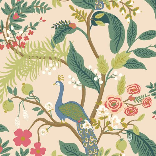Peacock Wallpaper By Rifle Paper Co Lelands Wallpaper