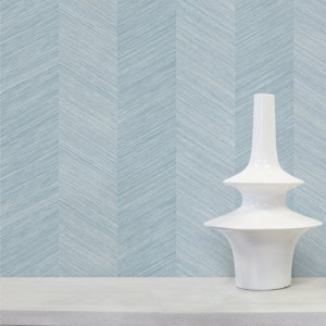 TC70102 Seabrook Wallcoverings More Texture Chevy Sisal Wallpaper Blue Knoll Room Setting