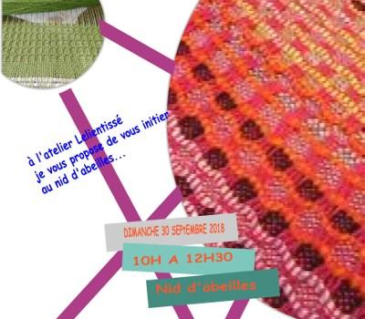 Atelier tissage/tapisserie le dimanche matin avec Lelientissé