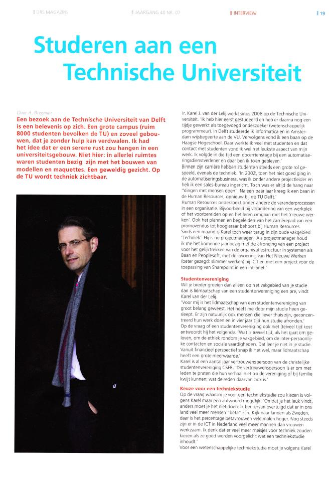 Interview in DRS Magazine