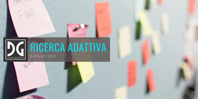 Adaptive search Google ricerca adattiva
