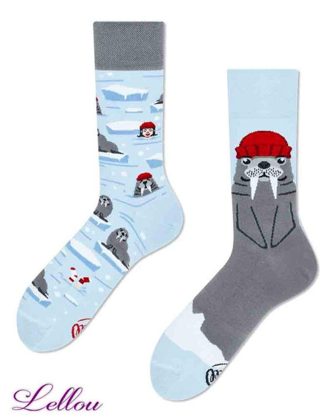 Chaussettes dépareillées Morse Socks amusantes et drôles. La vie est trop courte pour des chaussettes ennuyeuses! Production Europe