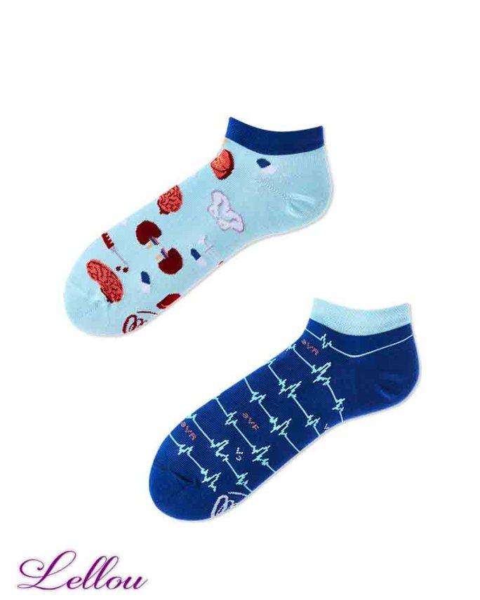 Chaussettes Socquettes Docteur Dépareillées - DRSOCK low, drôles. La vie est trop courte pour des chaussettes ennuyeuses! Production Europe
