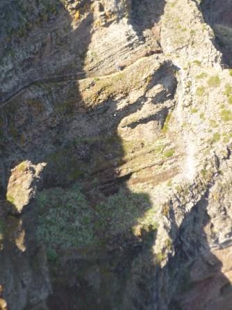 sentier dans la falaise