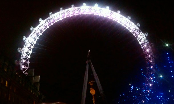 The London Eye on New Year's Eve