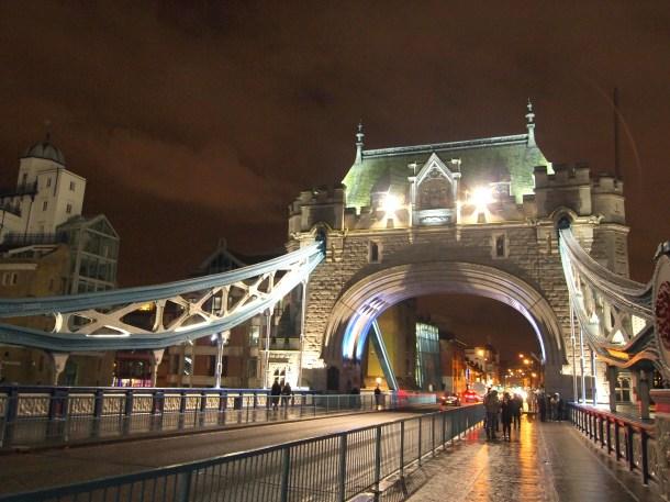 Walking across the Tower Bridge