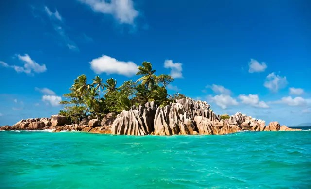 Tropical island of St. Pierre , Praslin , Seychelles, Indian Ocean