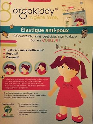 Orgakiddy; élastiques anti poux
