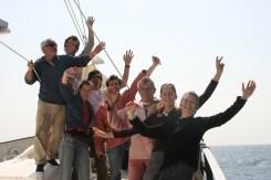 Claire, Judith, Pierre, Jean, Jeff, Cécile, Phil le marin, Philippe