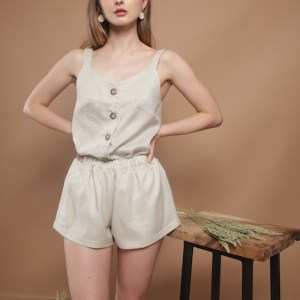 Audrey top and Abby shorts