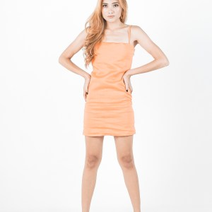 Ada dress in Orange