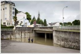 L'entrèe de la Basilique souterraine. Aujourd'hui c'est plus une piscine olympique. Il y aurait 2m d'eau à l'intérieur.