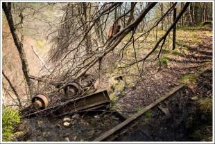 Wagon déraillé