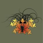 A psuedo-tessellation tribal mask