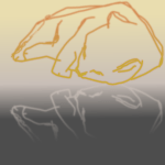 42 of 365 is a cat sleeping on a tabletop #inkscape