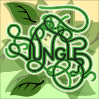 58 of 365 is a jungle of vines and leaves in #Inkscape
