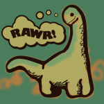 A cute dinosaur by John LeMasney via 365sketches.org #cc #design