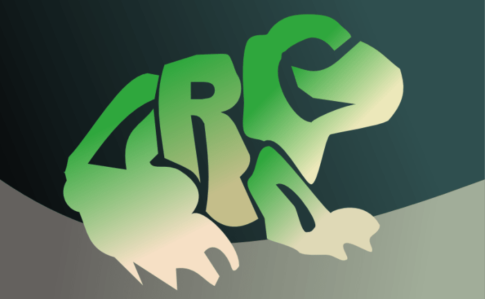 A frog made out of text by John LeMasney via 365sketches.org #typography #design#inkscape #cc #animals