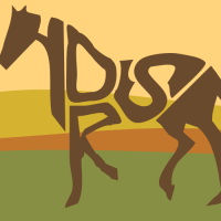 272 of 365 is a horse made out of text #typography #design #Inkscape
