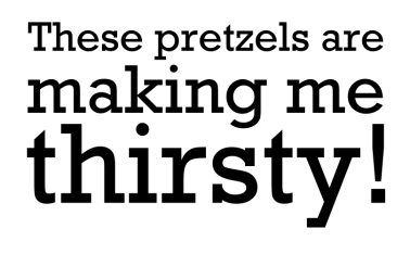 These pretzels are making me thirsty (George Constanza) by John LeMasney via 365sketches.org #Seinfeld #illustration #design
