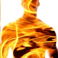 46 of 365 is a man on fire #GIMP