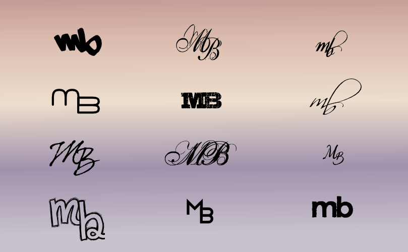 a monogram for melissa brisbin  mb  by john lemasney via 365sketches org  design