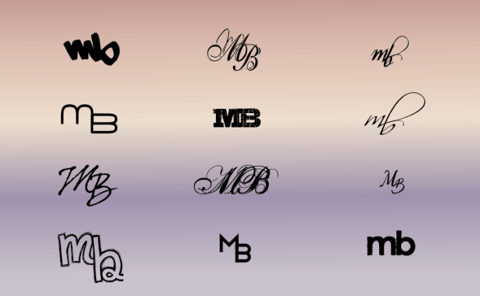 A monogram for Melissa Brisbin by John LeMasney via 365sketches.org #design #creativecommons #Inkscape