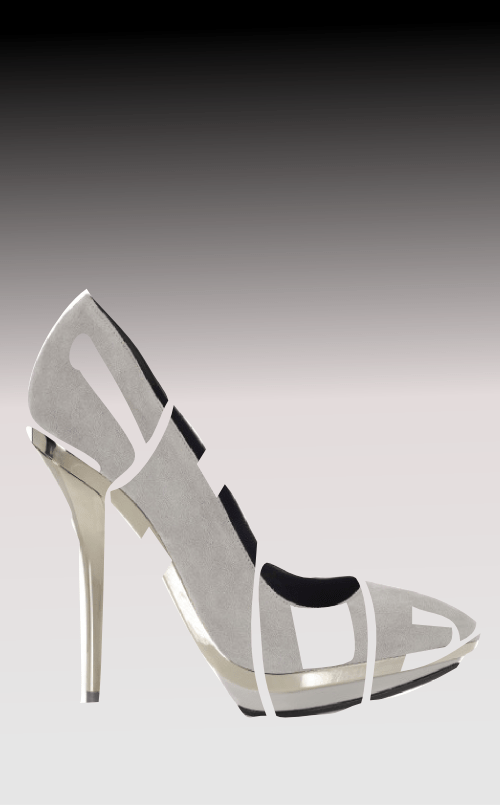 20111119: A high heeled shoe made out of text by John LeMasney via 365sketches.org #design #cc