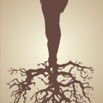 20121213: A man with roots, firmly planted by John LeMasney via 365sketches.org #creativecommons #design #cc-by #tree #roots