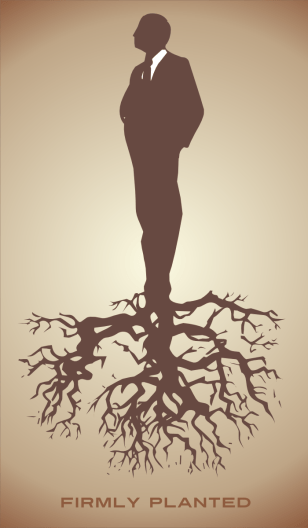 A man with roots, firmly planted by John LeMasney via 365sketches.org #creativecommons #design #cc-by #tree #roots