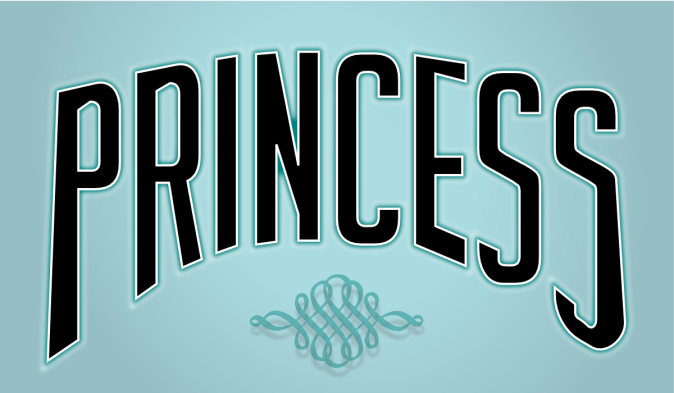20121215: Princess illustrated by John LeMasney via 365sketches.org #creativecommons #design #cc-by #typography