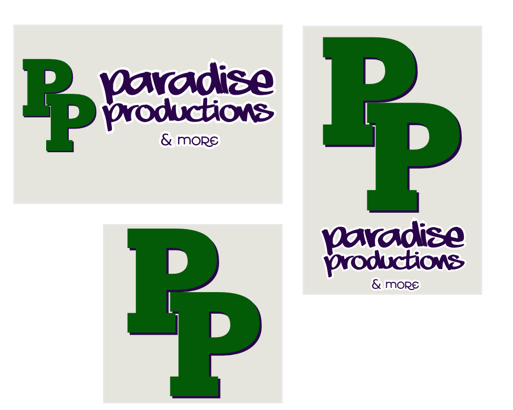 Paradise Productions brand study, revision 3, by John LeMasney via lemasney.com