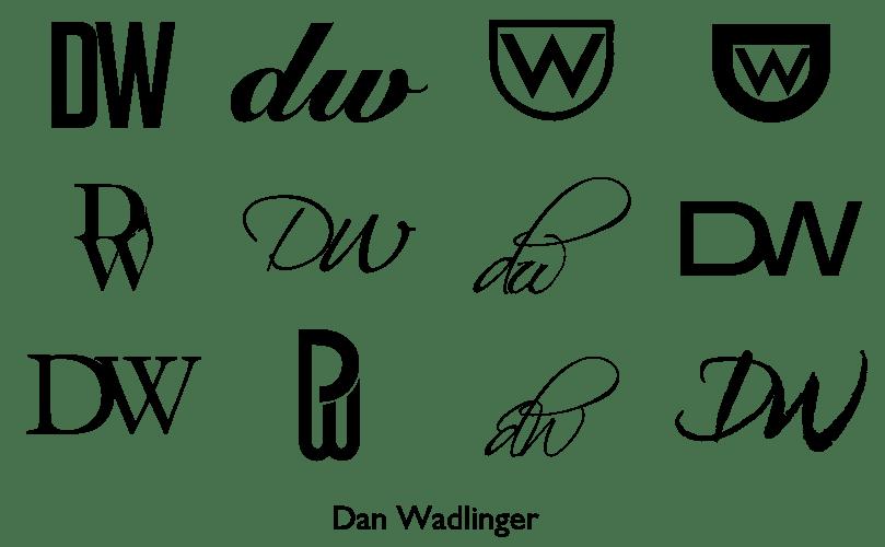A Monogram For Dan Wadlinger Cc Design Typography Inkscape Dw Lemasney Creative